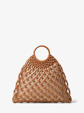Michael Kors Cooper Woven Leather Tote - NATURAL - STYLE
