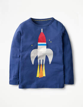 Boden Long-sleeved Graphic T-shirt