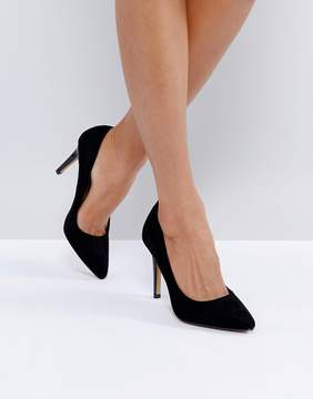 Head Over Heels by Dune Alice Black Heeled Pumps