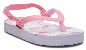 Laura Ashley Glitter Flip Flop Sandal (Toddler & Little Kid)