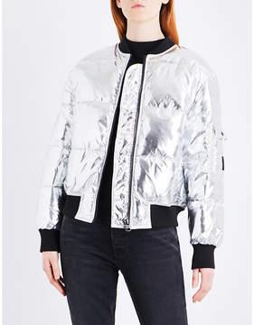 Cheap Monday Risky metallic shell puffer bomber jacket