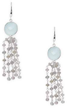 Candela Women's Chalcedony & Labradorite Tassel Dangle Earrings