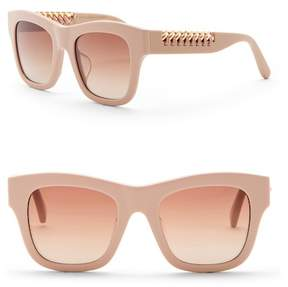 Stella McCartney Women's 49mm Laced Chain Square Sunglasses