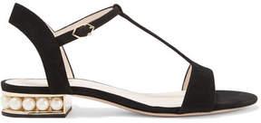 Nicholas Kirkwood Casati Embellished Suede Sandals - Black