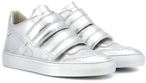 MM6 MAISON MARGIELA Metallic leather sneakers