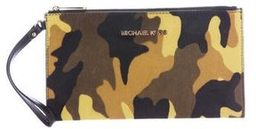 MICHAEL Michael Kors Ponyhair Wristlet Clutch - YELLOW - STYLE