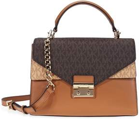 Michael Kors Sloan Medium Leather Satchel- Brown - ONE COLOR - STYLE