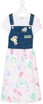 Kenzo long dungaree dress