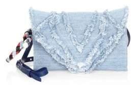 Elena Ghisellini Fringed Cotton Clutch