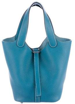Hermes Clemence Picotin TPM - BLUE - STYLE