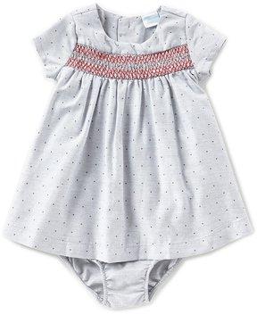 Edgehill Collection Newborn-24 Months Smocked Dotted Dress