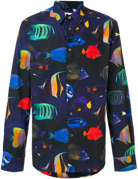 Paul Smith fish print shirt