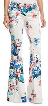 Alexis Kamilla Floral-Print Flare-Leg Pants