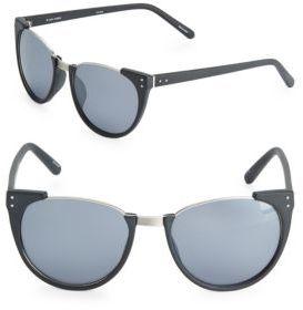 Linda Farrow Luxe Matte 54MM Cat Eye Sunglasses