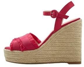 MANGO Wedge criss-cross sandals