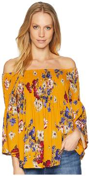Angie Off Shoulder Top with Bell Sleeve Women's Clothing