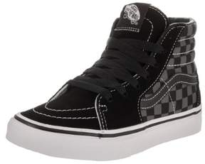 Vans Kids Sk8-Hi (Checkerboard) Blk/Pewter Skate Shoe 13 Kids US