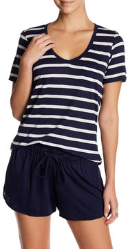 Daniel Buchler Striped Short Sleeve Tee