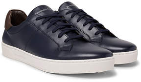 Ermenegildo Zegna Vittorio Vulcanised-Leather Sneakers