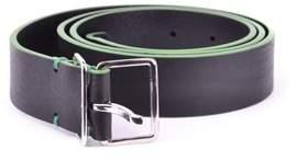 DSQUARED2 Men's Black/green Leather Belt.