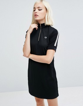 Fred Perry Zip Thru Knit Dress with High Neck