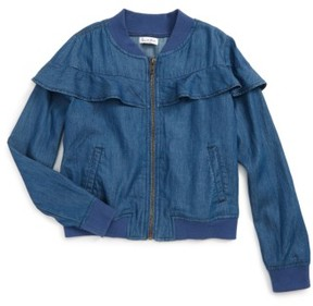 Love, Fire Girl's Ruffle Denim Jacket