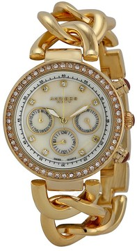 Akribos XXIV Akribos Mother of Pearl Dial Gold Tone Metal Ladies Watch