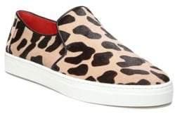 Diane von Furstenberg Budapest Leopard Calf Hair Slip-On Sneakers