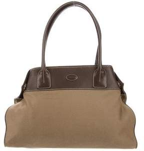 Tod's Leather-Trimmed Shopping Tote