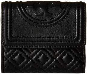 Tory Burch Fleming Mini Flap Wallet Wallet Handbags - BLACK - STYLE