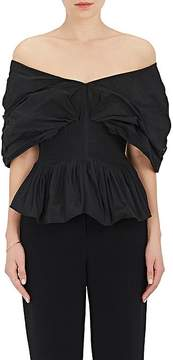 Brock Collection Women's Taffeta Off-The-Shoulder Top