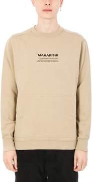 MHI Militype Crew Beige Cotton Sweatshirt