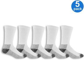 Fruit of the Loom Men's Workgear Cushioned Crew Sock 5 Pack