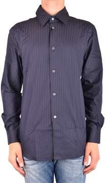 CNC Costume National Men's Mcbi074103o Blue Cotton Shirt.