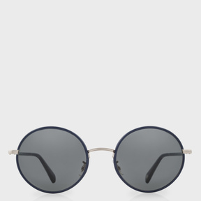 Paul Smith Navy And Brushed Silver 'Danbury' Sunglasses