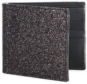 Maison Margiela Men's Glitter Calf Leather Bi-Fold Wallet