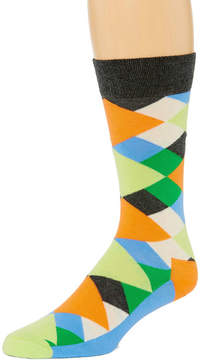 HS by Happy Socks 1 Pair Mens Crew Socks - Extended Sizes