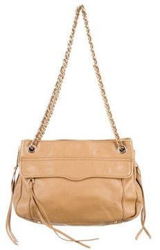 Rebecca Minkoff Leather Shoulder Bag - NEUTRALS - STYLE