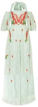 Temperley London   Potion Off Shoulder Dress   L   Pale lichen