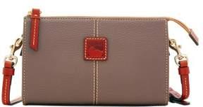 Dooney & Bourke Pebble Grain Small Janine Crossbody Shoulder Bag - ELEPHANT - STYLE