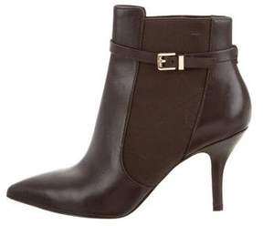 MICHAEL Michael Kors Leather Pointed-Toe Booties