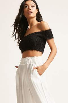 Forever 21 Fuzzy Off-the-Shoulder Crop Top