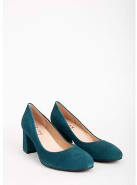 French Sole Womens Trance Suede Round Toe Classic Pumps.
