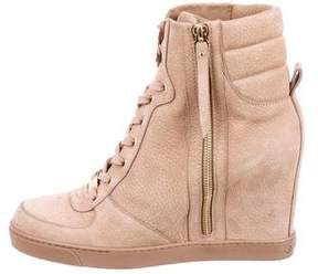 Louis Vuitton High-Top Wedge Sneakers