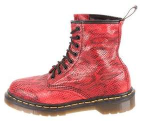 Dr. Martens Embossed Leather Combat Boots
