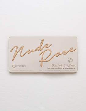 aerie BH Cosmetics Nude Rose Sculpt and Glow Palette