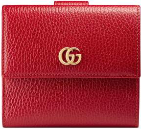 Gucci Leather french flap wallet - HIBISCUS RED LEATHER - STYLE