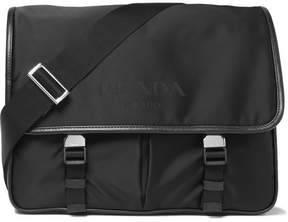 Prada Leather-Trimmed Nylon Messenger Bag