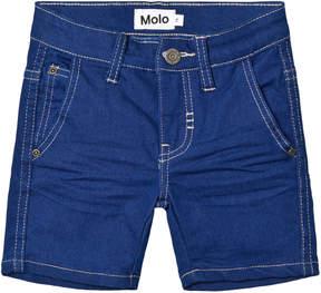 Molo Blue Denim Asser Shorts