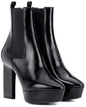 Saint Laurent Vika 95 leather plateau ankle boots